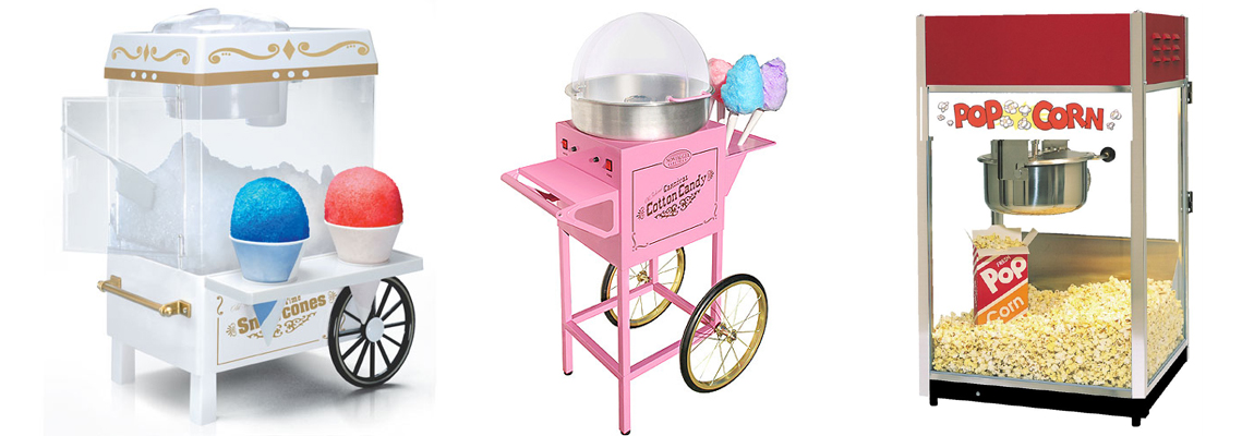 We Rent Snow Cone Machines • Cotton Candy and Popcorn Machines