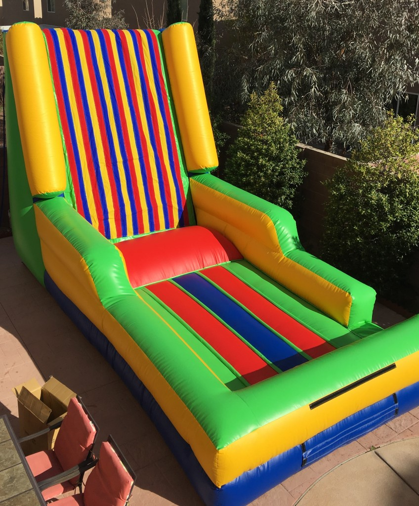 Now available!!! An Inflatable Velcro Sticky Wall. Put on your velcro sticky suit, run jump and stick to the wall as high as you can. Fun:) Fun:) Fun:)